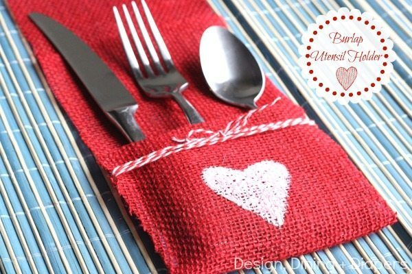 Burlap Utensil Holder by Design, Dining + Diapers