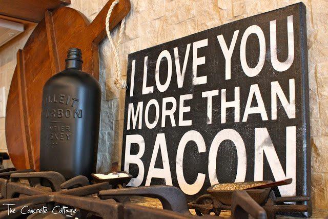I Love You More Than Bacon Subway Art Sign 1