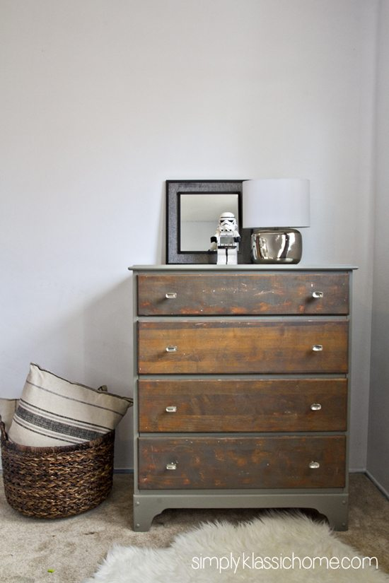 two tone dresser drawer full closed