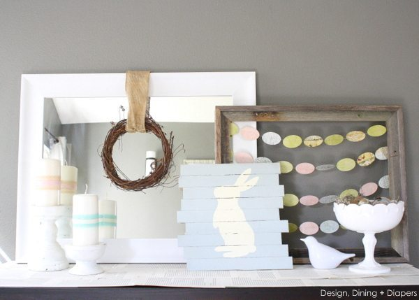 Pastel Easter Vignette by Design, Dining + Diapers
