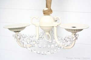 DIY Shabby Chic Chandelier