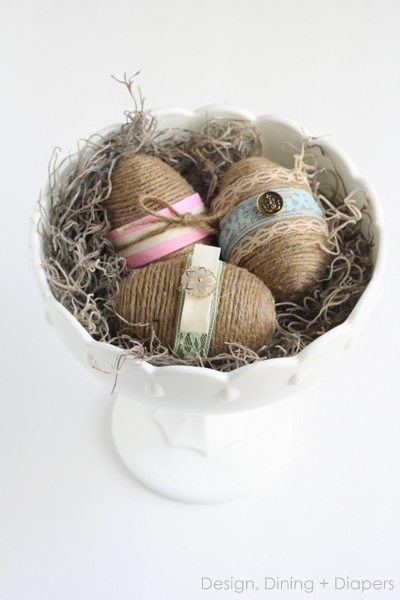 Shabby Chic Easter Eggs From Dollar Store Plastic Eggs #diyeggs #eastereggs #diyeastereggs #decorativeeggs