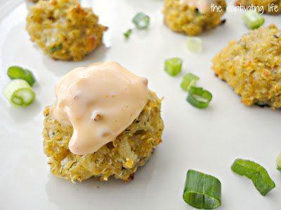 Quinoa ball with dip