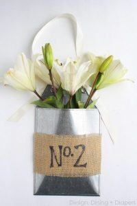 May Day Gift Ideas: Front Door Flower Basket Using Fresh Lilies