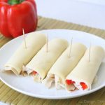 Easy Snack: Hummus Turkey Wraps