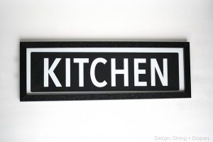 Pottery Barn Knock Off Kitchen Sign