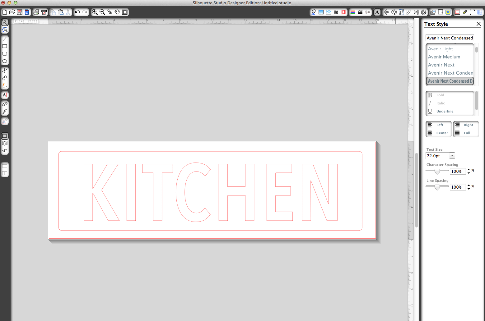 PB Knock Off Kitchen Sign by Design, Dining + Diapers