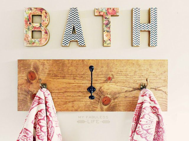 diy towel rack 2