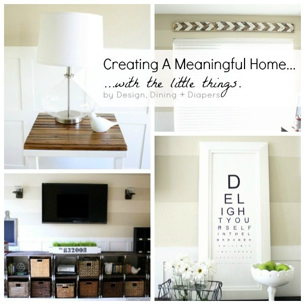 Creating A Meaningful Home with the Little Thing by @tarynatddd