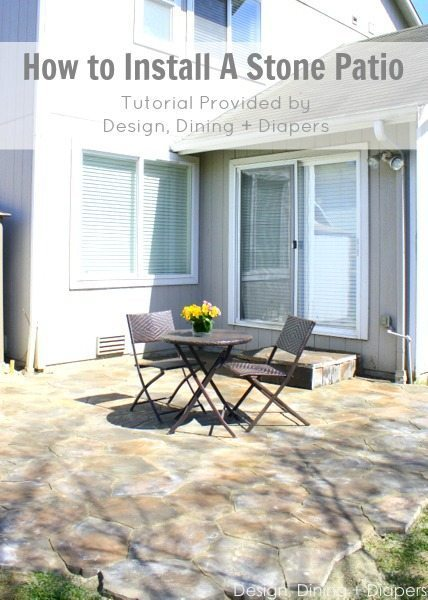 How to Install A Stone Patio by Design, Dining + Diapers