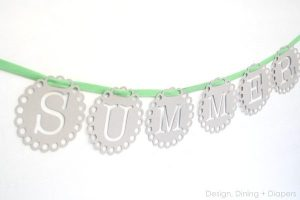 Summer Bunting Using Chipboard and Silhouette Portrait Winner!