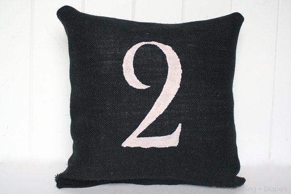 Pink and Black Industrial Chic Pillows - Design, Dining + Diapers