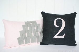 Pink and Black Industrial Chic Pillows