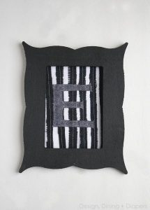 Black and White Fabric Wall Art Using Silhouette Fabric Interfacing