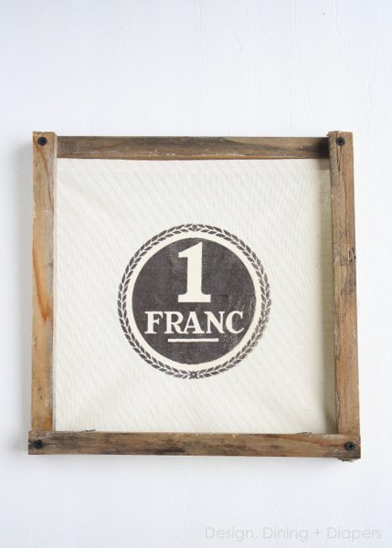 DIY Rustic Wood Frame Tutorial by designdininganddiapers.com