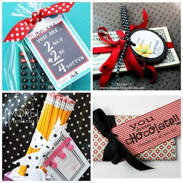 16 Teacher Appreciation Gift Ideas via designdininganddiapers.com