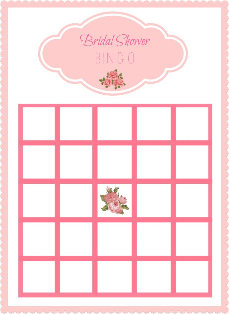 Free Printable Bridal Shower Bingo Cards. Wedding Shower Cards To ...