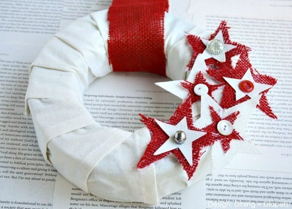 DIY Fourth of July Wreath by Design, Dining + Diapers