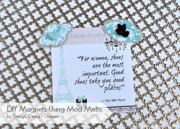 DIY Magnets Using Mod Melts by designdininganddiapers.com