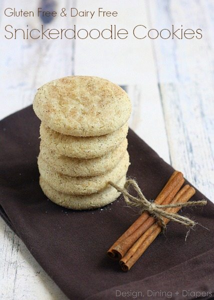 Gluten Free Diary Free Snickerdoodle Recipe by DesignDiningAndDiapers.com