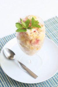 Homemade Tropical Frozen Yogurt