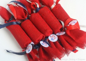Fourth of July Favors Made From Recycled TP Rolls