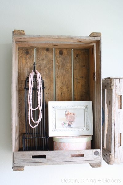 Crate Shelves by DesignDiningAndDiapers.com