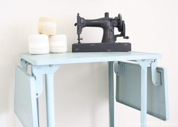 Upcycled Vintage Typewriter Table by @tarynatddd