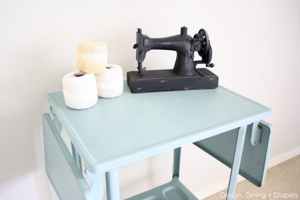 Dining room table chalk paint