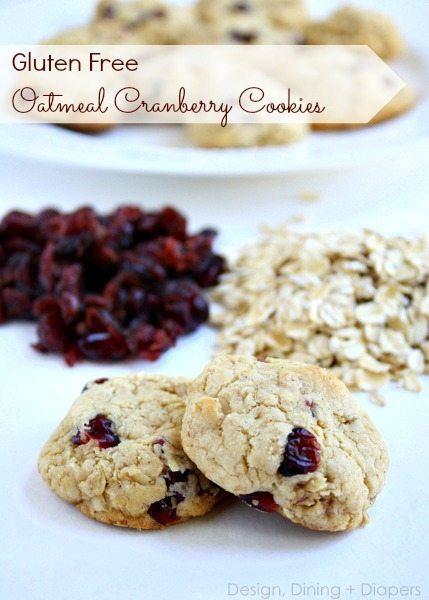 Gluten Free Oatmeal Cranberry Cookies by @tarynatddd