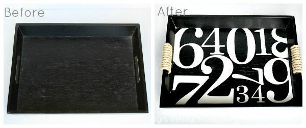 Pottery Barn Number Tray Before and After