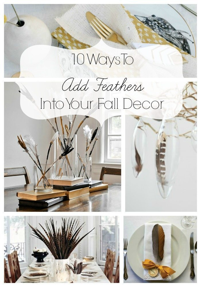 Adding Feathers Into Your Decor