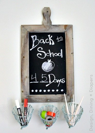 Chalkboard Desk Station by Design, Dining + Diapers