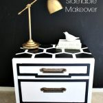 DIY Honeycomb Side Table Using ScotchBlue Painters Tape