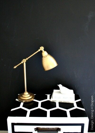 DIY Honeycomb Side Table via @tarynatddd