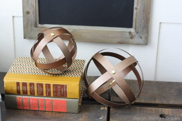 Industrial Decorative Spheres Made From Cereal Boxes via @Tarynatddd