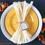 Corn Husk Fall Table Setting