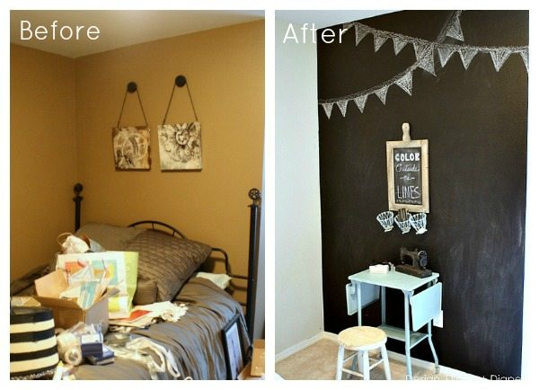 Chalkboard Wall Before After