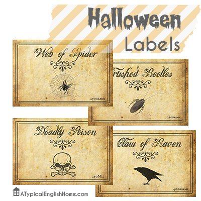 Halloweenlabelsjarsbottles