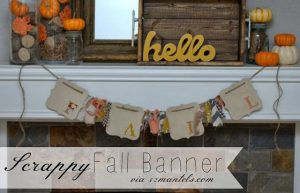 Scrappy Fall Banner with 52 Mantels