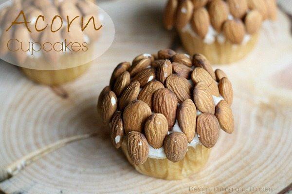 Acorn Inspired Cupcakes via @tarynatddd