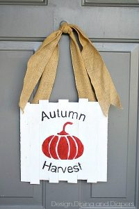 Mini Pallet Autumn Door Sign