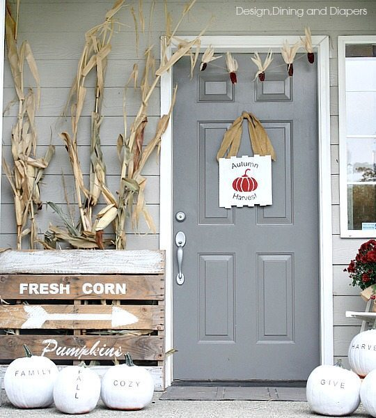 A Little Bit Too Lodge Y But I Love The Porch And The: My Fall Porch Decor