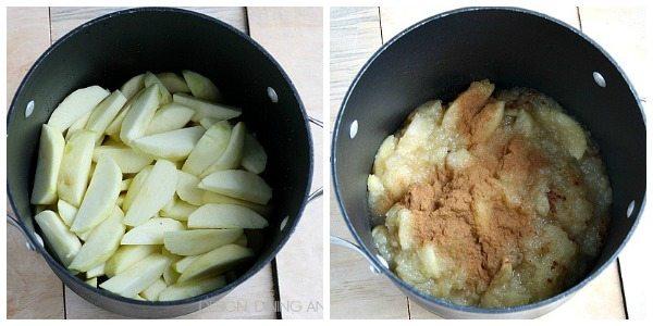Applesauce in Pan