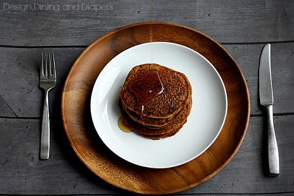 Gluten-free, Dairy-Free Pumpkin Pancakes via @tarynatddd