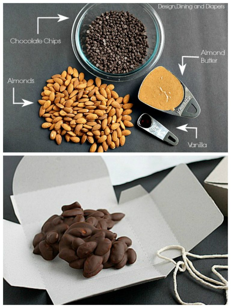Homemade Chocolate Almond Clusters