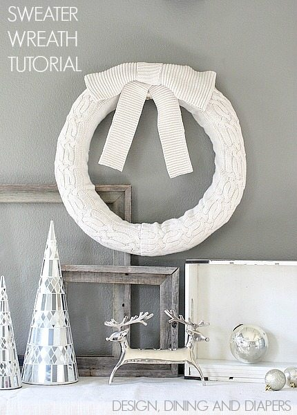 Learn How To Recycle Your Old Sweaters Into A Cozy Wreath. Love this! via @tarynatddd