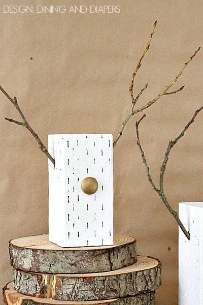 Modern Wood Block Reindeer via @tarynatddd
