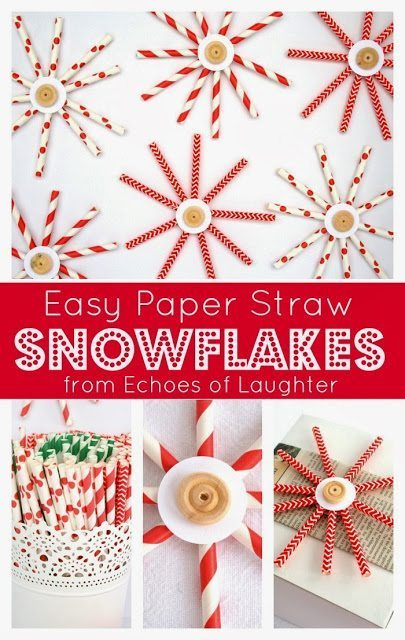 Paper Straw Snowflakes5
