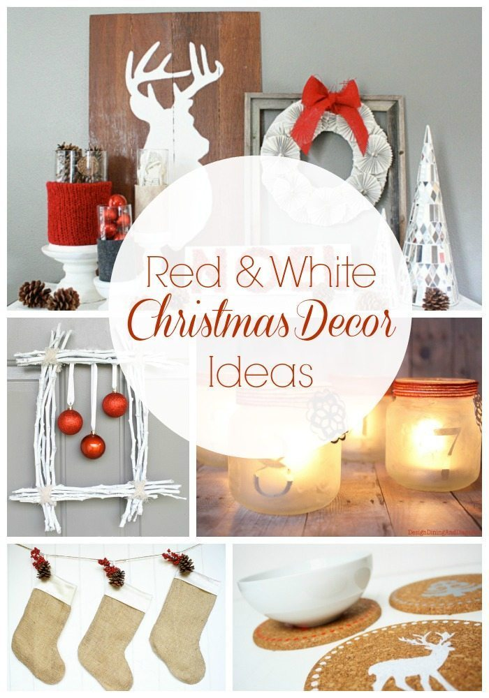 Red and White Christmas Decorations via @tarynatddd